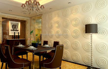 Embossed 3D wallpaper with plant fiber & PC wall board