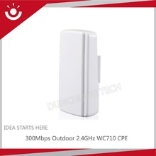 300Mbps WC710 2.4GHz 5GHz Outdoor WiFi CPE With PoE Adapter