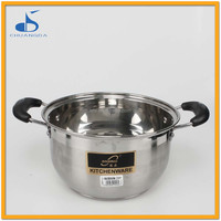 stainless steel kitchenware factory chinese hot pot cookware with bbq grill