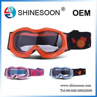 Chinese colorful high performance helmet compatible motorcycle goggles