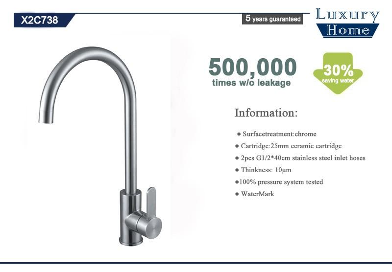 Unique poign e en acier inoxydable 304 cuisine robinets d for Fuite mitigeur cuisine