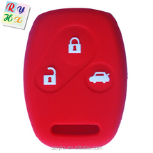 Eco-friendly silicone 3 button car key case cover made in China