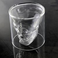 Glass Doomed Cup Crystal Skull Head Vodka Shot Wine Beer Tea Glass Drinking Cup Mug Home Party Doomed Skull Cup