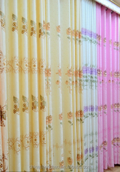 Embroidery window curtain, curtain rod, elegant living room curtain