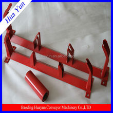 45 degree angle conveyor roller bracket for supporting conveyor roller with electrostatic spraying