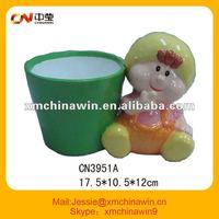 Cartoon ceramic flower pot