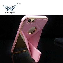 For iPhone 6 Plus Case ,Hot Sale Universal Aluminum Bumper With Foldable PU Back Cover