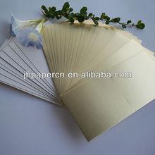 popular wholesale 375g disposable matte gold paper