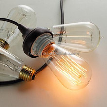 Vintage color st64 40W Edison Reproduction Clear Glass Bulb