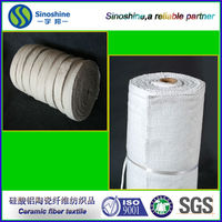refractory textiles product 1000 degree stainless steel reinforced ceramic fiber insulation cloth