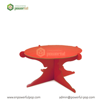 Factory promotion cardboard cupcake stand cake display stand
