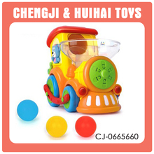 Educated funny baby plastic toy trains for kids