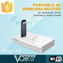Portable 300Mbps best router with power bank, mini 3g 4g wifi router
