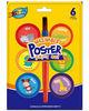6 color washable poster paint set