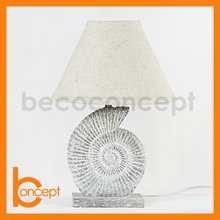 42CM Resin Fossil Spiral Shell Natural Vintage Bedroom Lamp
