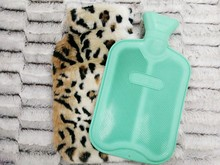 2000ml Soft leopard Faux Fur Hot Water Bottle Cover Includes Bottle