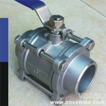 Carbon Steel Small Size Reduce / Full Bore Split Ball Valve with flange end