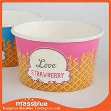 Paper ice cream containers for ice cream store