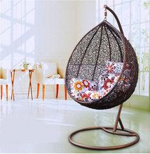 Modren PE wicker egg hanging chair for bedroom