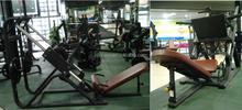 Oval tube Incline Hack Squat Machine gym equipment