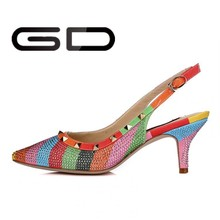 latest sexy high heel 2014/ 2015 women OEM leather shoes fashion lady dress shoes