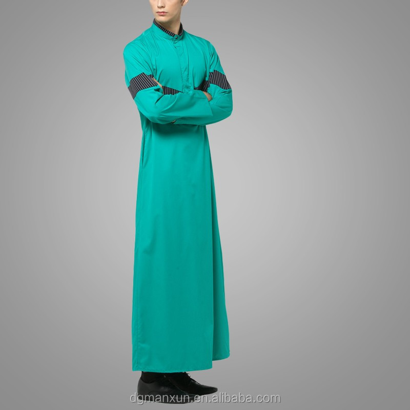dgManxun Muslim High Quality Men Arab Thobe Wholesale Men Saudi Thobe  Awwal Thobe Fly Series Green (3).jpg