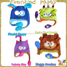 Kids funny animal flipeez crochet hat FGH-0001