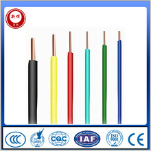 450/750V Stranded And Solid Copper Conductor PVC Insulated 1.5mm2,4mm2,6mm2,10mm2 Electrical Wire and cable
