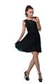 2014 nuevo verano vestido de fiesta de encaje negro de diseño de moda para las mujeres