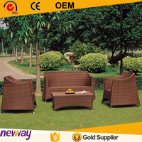 Comfortable Hotel Home Furniture Hot sale Weather-resistant Wicker Outdoor Sofa