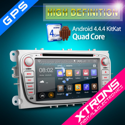 "XTRONS PF72FSFA-S 7"" Android 4.4.4 Kitkat Quad-Core 2 din car dvd player for ford with CANbus Mirrorlink"