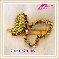 New Designer Fancy Wedding Accessories Chunky Crystal Rhinestone Butterfly Hair Clips Decorations