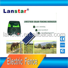 5 Joules LED Solar Powered farm electric fence energizer/charger, goat/cattle /horse fence system, 30 meters working distance