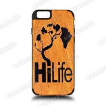 New Product Eco-life Wood+PC For Custom Design Printed For Iphone 6 Wood Case.