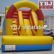 2015 classic fashion inflatable slide yellow red blue color