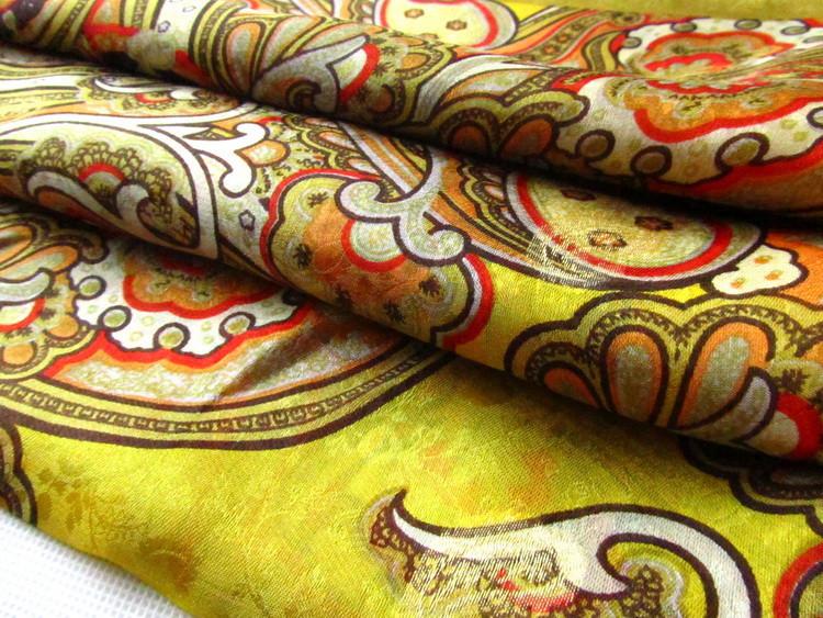 [Silk Jarcquard Scarf]50cm*170cm Embroidery Long Scarf/100% Natural Silk/Flower Scarves/2014 New Autumn&Winter Desigual/Yellow