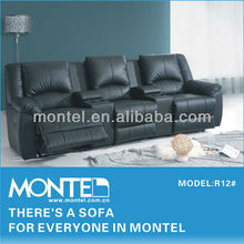 2015 modern home cinema leather sofa
