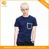 Wholesale Custom Men's Plain Round Neck T Shirt With Pocket