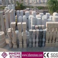 Beige Limestone outdoor banisters and railings