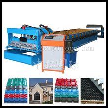 glazed tile roof metal making machine, glazed tile forming machine making spanish type