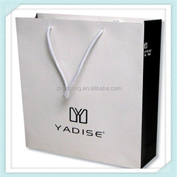 Promotion custom recyclable kraft paper art paper bag with handle