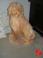 small stone dog sculpture