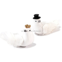 Miniature Bride And Groom Wedding Doves