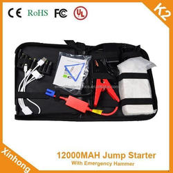 High capacity 12000MAH Start current 400A 12v portable car battery 12000mah Charge Sustaining half year