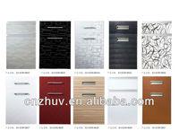 Acrylic Laminated MDF Kitchen Cabinet Shutter Doors