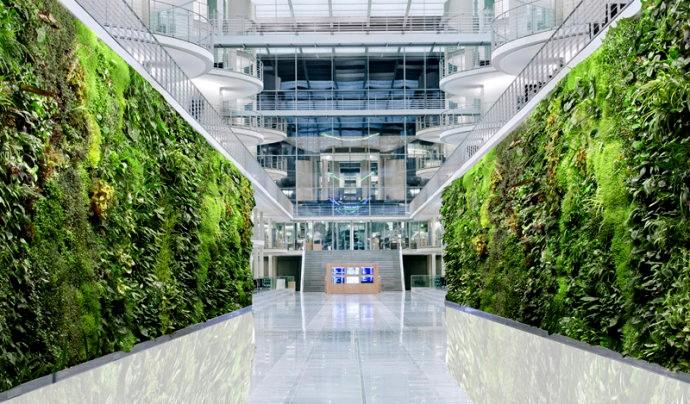 Wand mit Blume/Grün künstliche pflanze wand innen& außen Dekoration ...