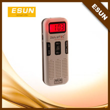 Specialised promotional gift to France ATLAS FOR MAN brand digital FM&AM radio talking clock
