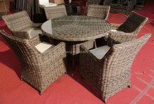 popular high-end outdoor furniture model 0471 5mm ROUND rattan