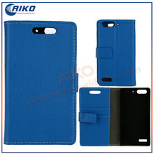 PU Leather Flip Wallet Stand Phone Case Cover with Tab on Back Side Mini Pebble Grain for Huawei Ascend G6 Case