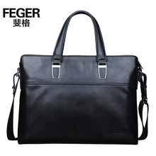 New Arrival Black Genuine Leather Men Business Handbag Leather Briefcase Messenger Bag